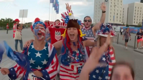 USWNT fans leave victorious after World Cup win
