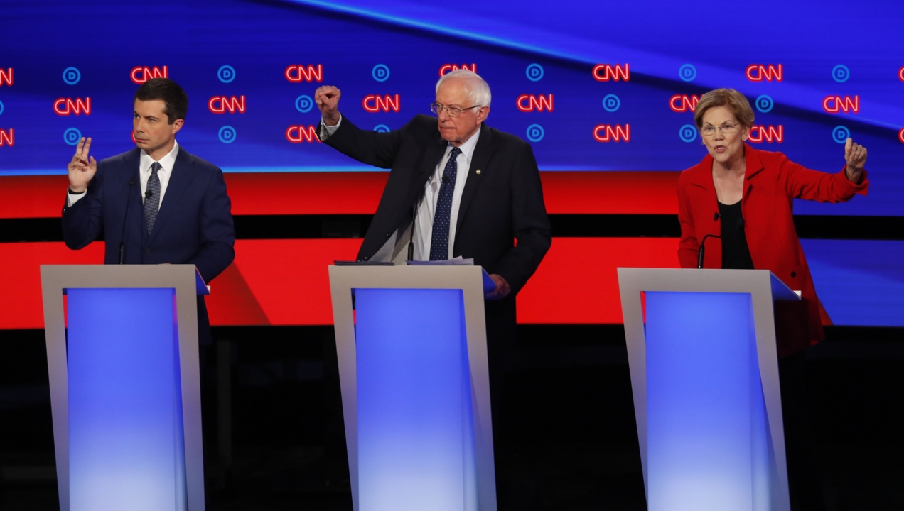 Sanders, Warren blast 'spineless' politics as Democrats debate Medicare For All