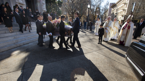 Scenes from Lina Fat's funeral service at the Cathedral of the Blessed Sacrament