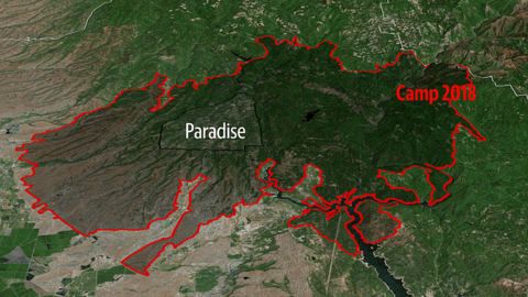 Paradise was threatened by wildfires many times in past. Here's how close they came