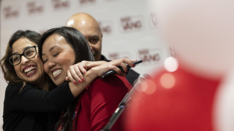 'When I get to City Hall, I'm bringing all of you with me,' Mai Vang says to supporters