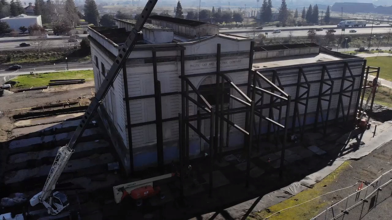 Drone video shows new Powerhouse Science Center under