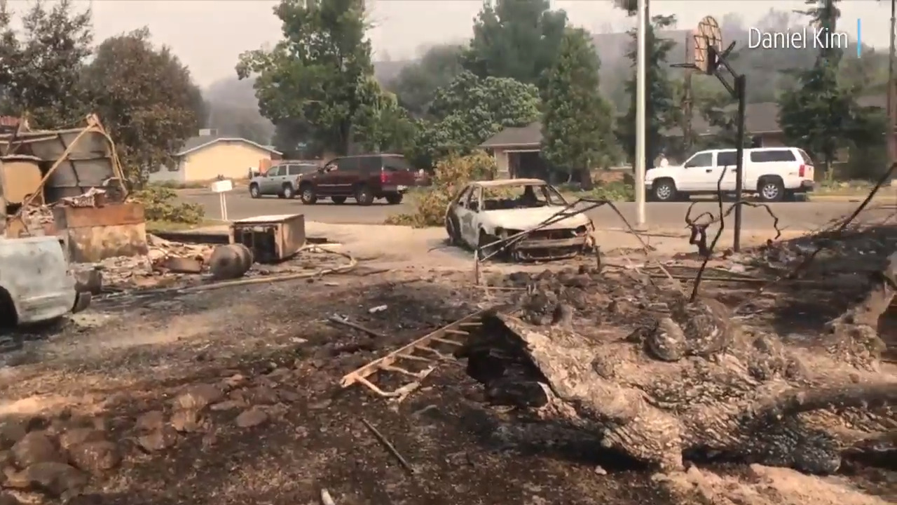 Carr Fire destroys homes near Harlan Drive in the Lake Redding ...