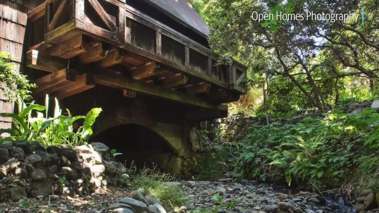 Berkeley CA home with creek running through it for sale