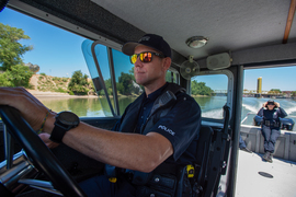 Advice from the marine police patrol on how to stay safe on the river