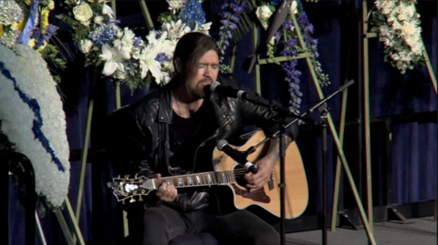 'Today this is Natalie's song': Billy Ray Cyrus performs ballad he's sung for fallen officers