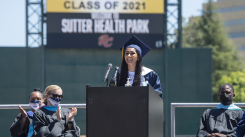 'We all came together.' See graduation for a Sacramento high school after a year of Zoom