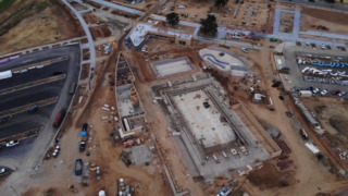 See the progress of Elk Grove Aquatics Center from air