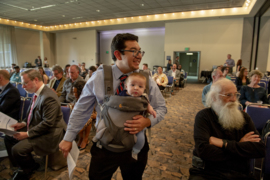 This politician brings his own baby to do Sacramento's business