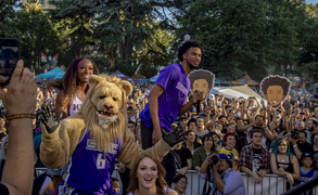 Marvin Bagley lll is introduced at Concerts in the Park