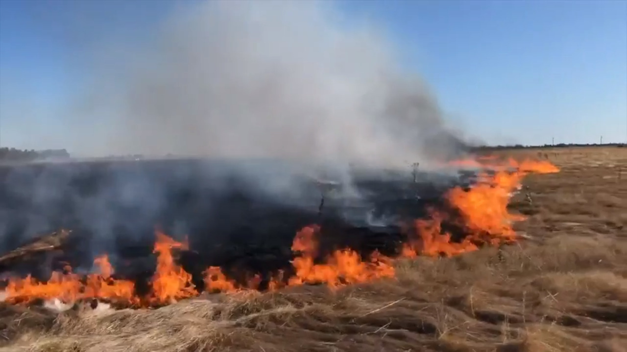 100-acre grass fire near Sacramento International Airport nearly contained