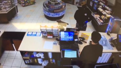 Watch the Elk Grove gas station robbery go down? Seen this guy?