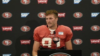 Trent Taylor returns from back surgery, looks forward to working with Garoppolo
