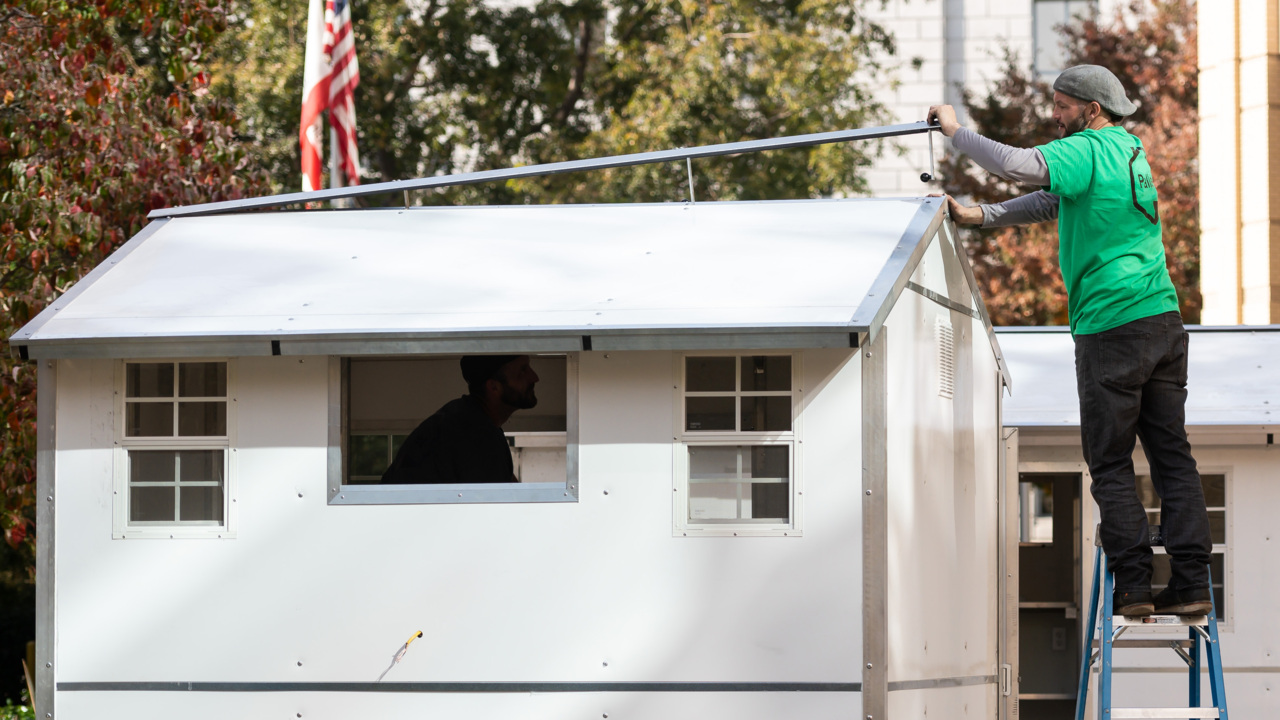 These small homeless shelters can be built in 20 minutes. Sacramento may buy dozens of them