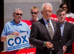 'We're going to start using our money efficiently,' says John Cox in call for gas tax repeal