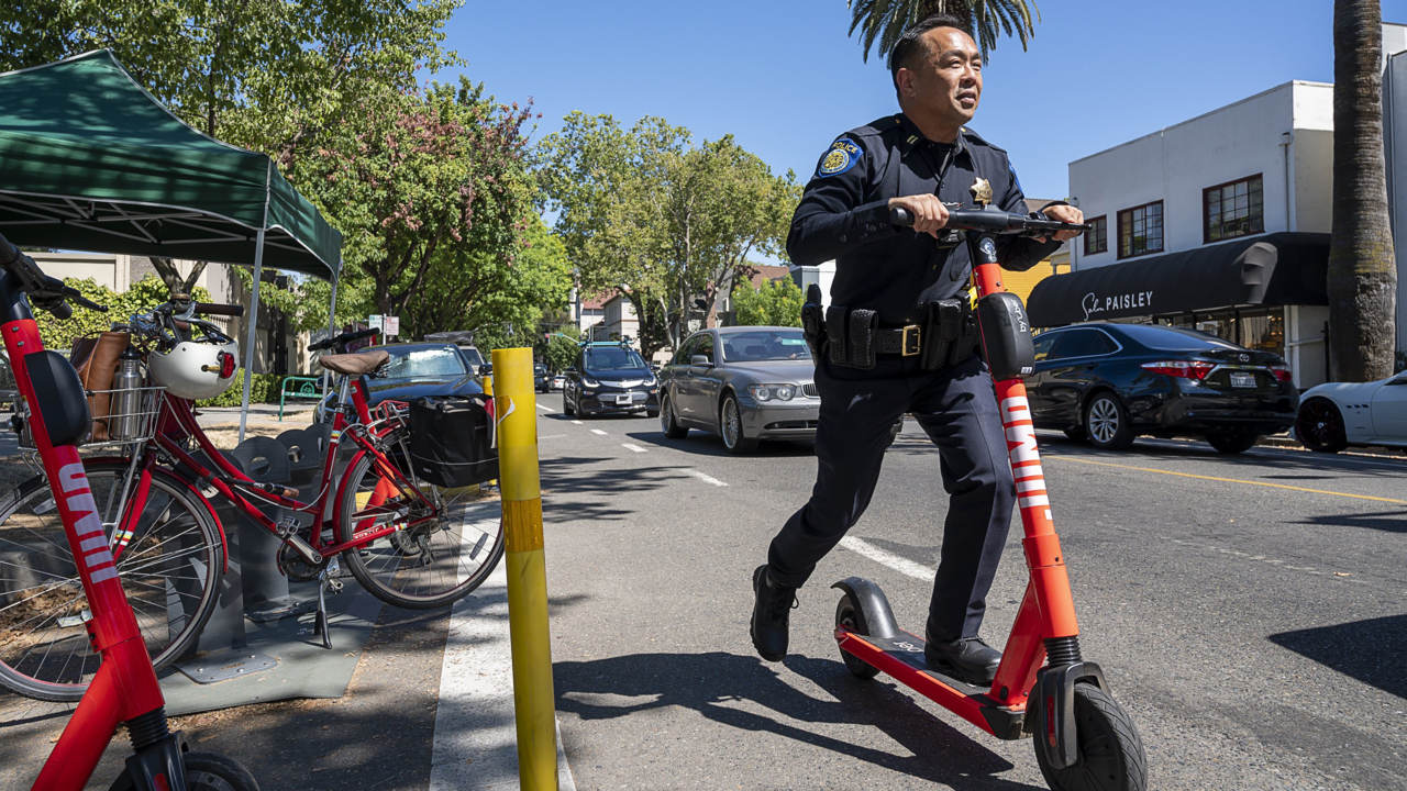 Riding an e-scooter on the sidewalk in Sacramento could now cost you $207