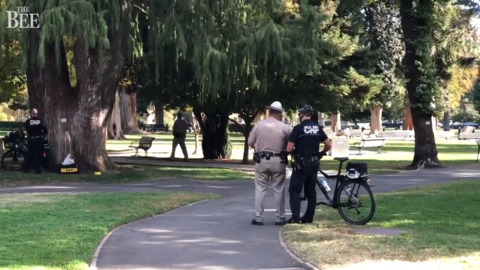 Situation with distressed man on east lawn of California state Capitol ends peacefully