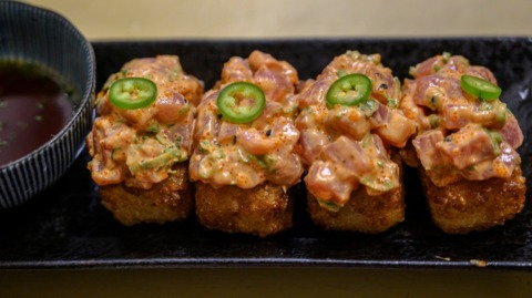 You Gotta Try This: Binchoyaki's krispy rice sidesteps sushi reluctance