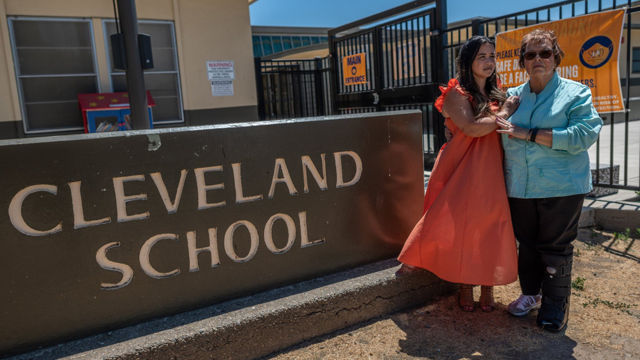 'She died in her teacher's arms.' Survivors of 1989 Stockton shooting revisit school