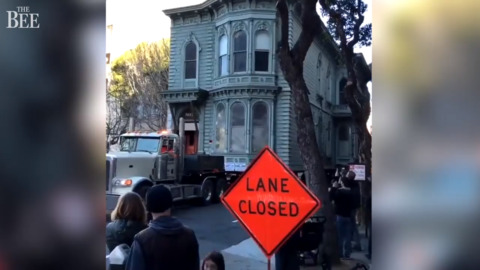 Watch big Victorian home transported down San Francisco street