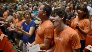 This will give you goosebumps: thousands state-wide come together to sing joyfully