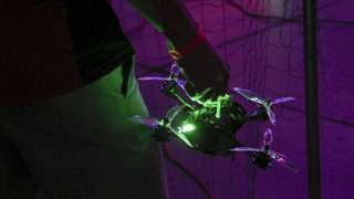 100 mph drone racing? Here's the scene at Golden 1 Center