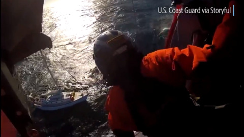 See Coast Guard rescue 3 people, chihuahua from disabled sailboat off Northern California coast