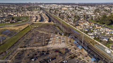 Potential homeless shelter site? Drone footage of Meadowview light rail station