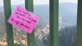Notes posted on Foresthill Bridge to dissuade people taking own life