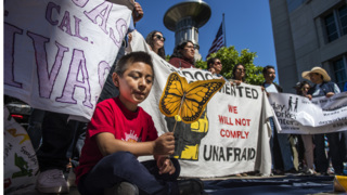 California's sanctuary state status draws protesters outside federal court hearing