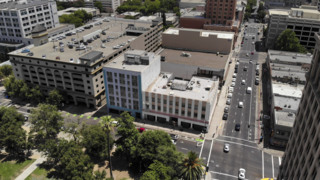 See drone footage of blighted downtown site of proposed 40-story tower