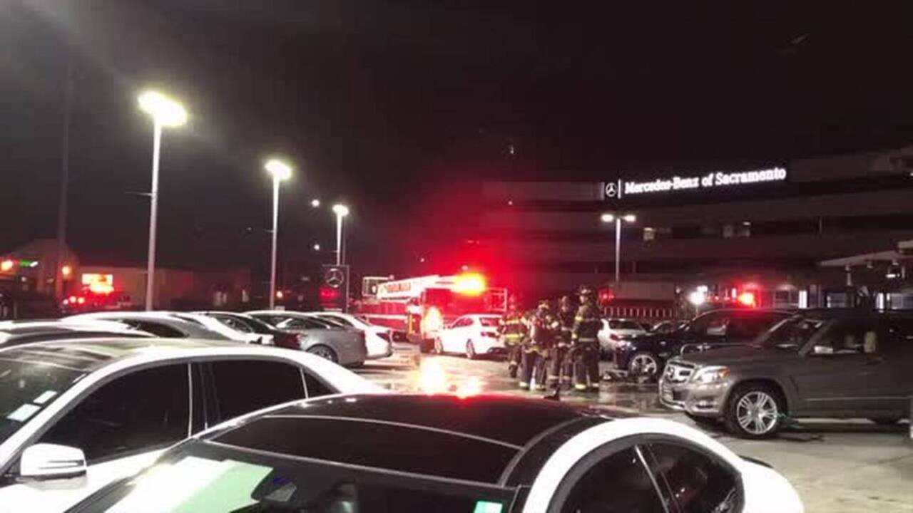 Fire In Mercedes Benz Showroom Causes Major Major Damage