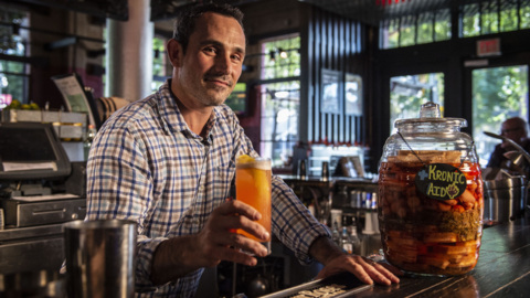 Watch a cocktail with CBD oil being made at this Sacramento bar