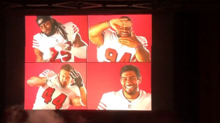 Watch San Francisco 49ers players unveil alternate uniforms