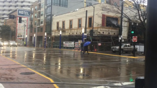 See the first wave of rain fall on downtown Sacramento