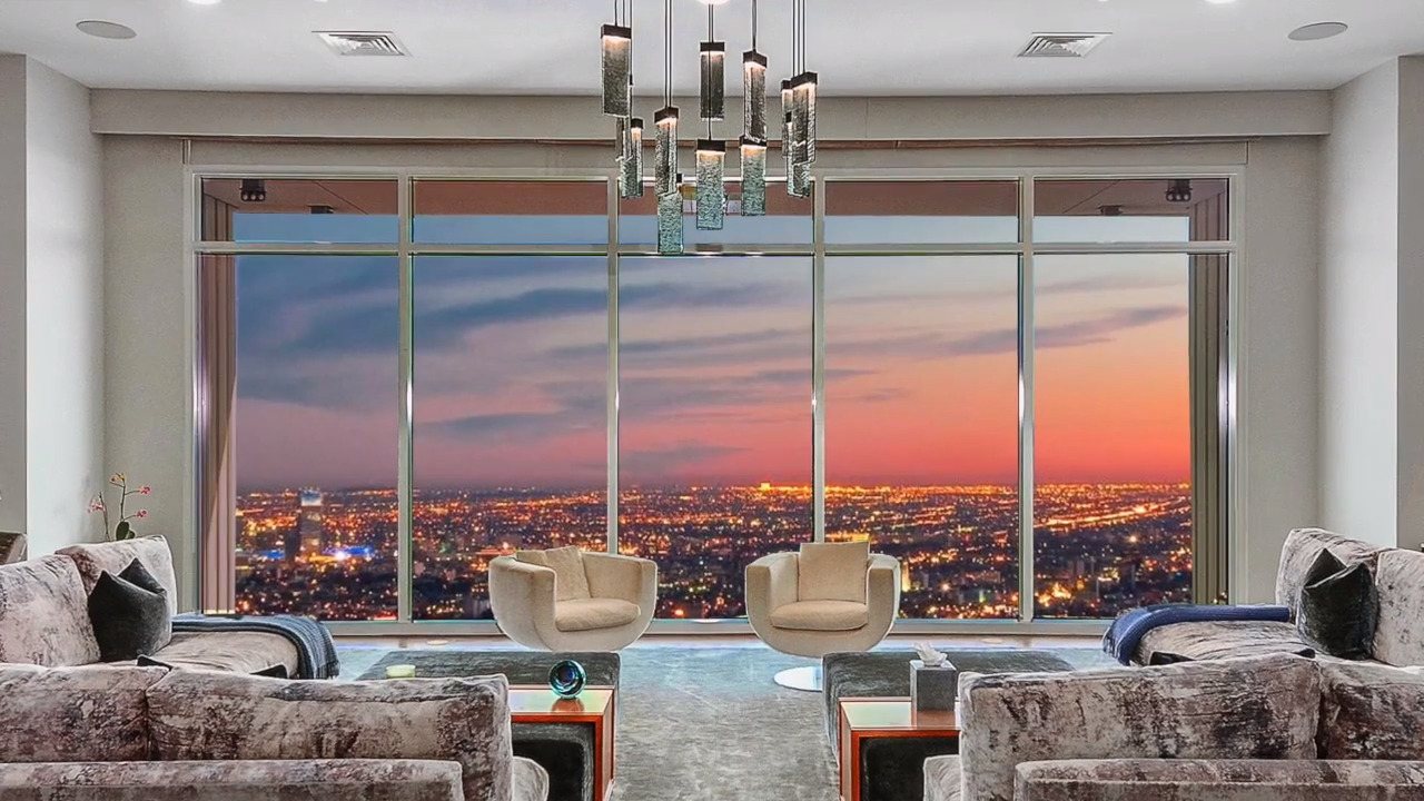 Step into Penthouse 40, $35 million home of Matthew Perry of 'Friends,' with 360° L.A. views