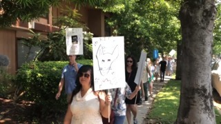 Protestors march outside dentist office for Chihuahua that died after beating