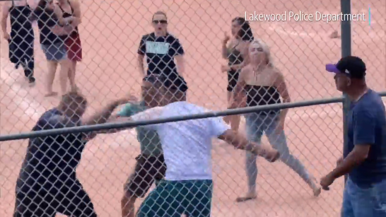Video catches adults brawling on field at 7-year-olds' baseball game, Colorado cops say