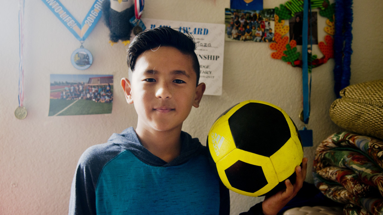 Young immigrant from Afghanistan would love to join a soccer camp this summer