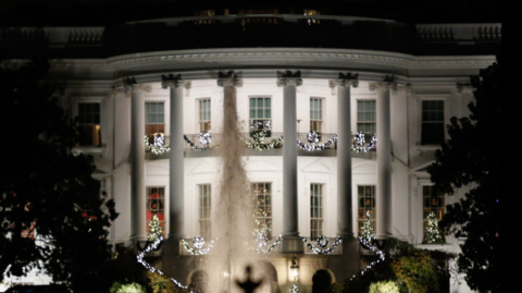 Take a look at White House Christmases over the years