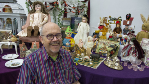 See the historical toys and objects he spent years collecting – and are now for sale