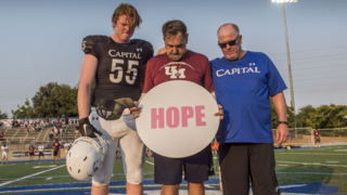Linked by tragedy, football teams unite for emotional tribute for Hope Bist