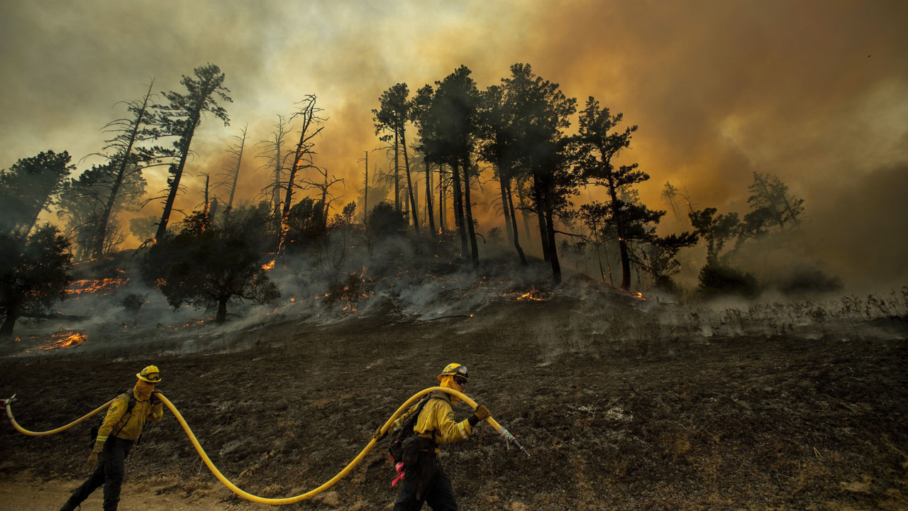Hurricane-like winds batter California, knocking out power and adding to wildfire woes