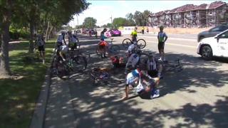 See the 'very nasty' Amgen crash just before the finish in Elk Grove