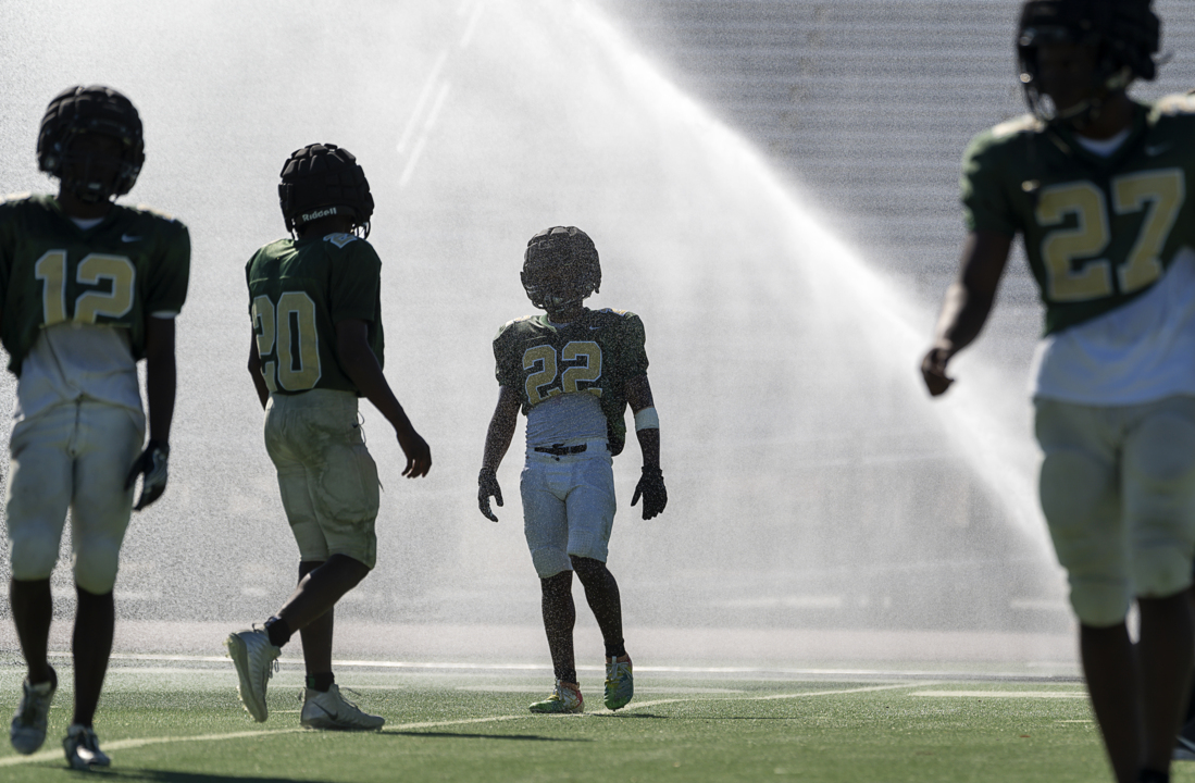 How high school football teams fight heat: Otter Pops and blocking sled 'water world'