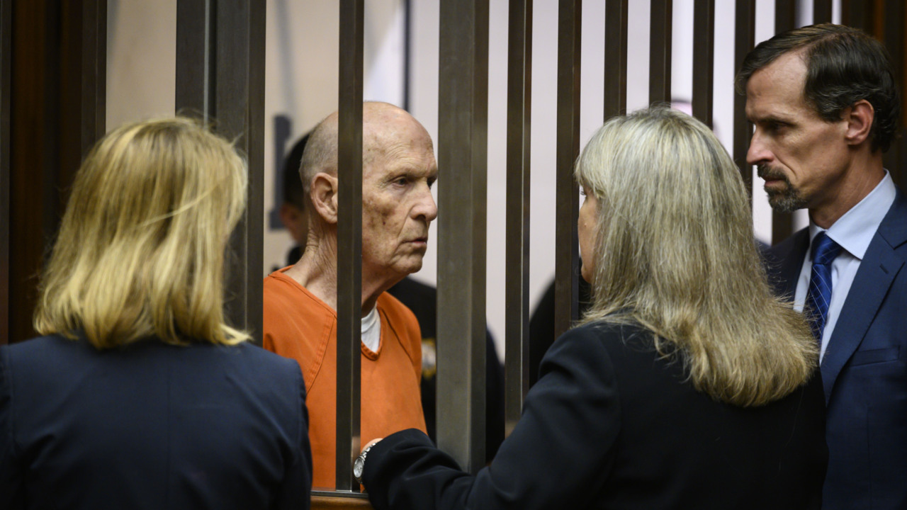 Golden State Killer/East Area Rapist suspect in court as his lawyers call for long delay