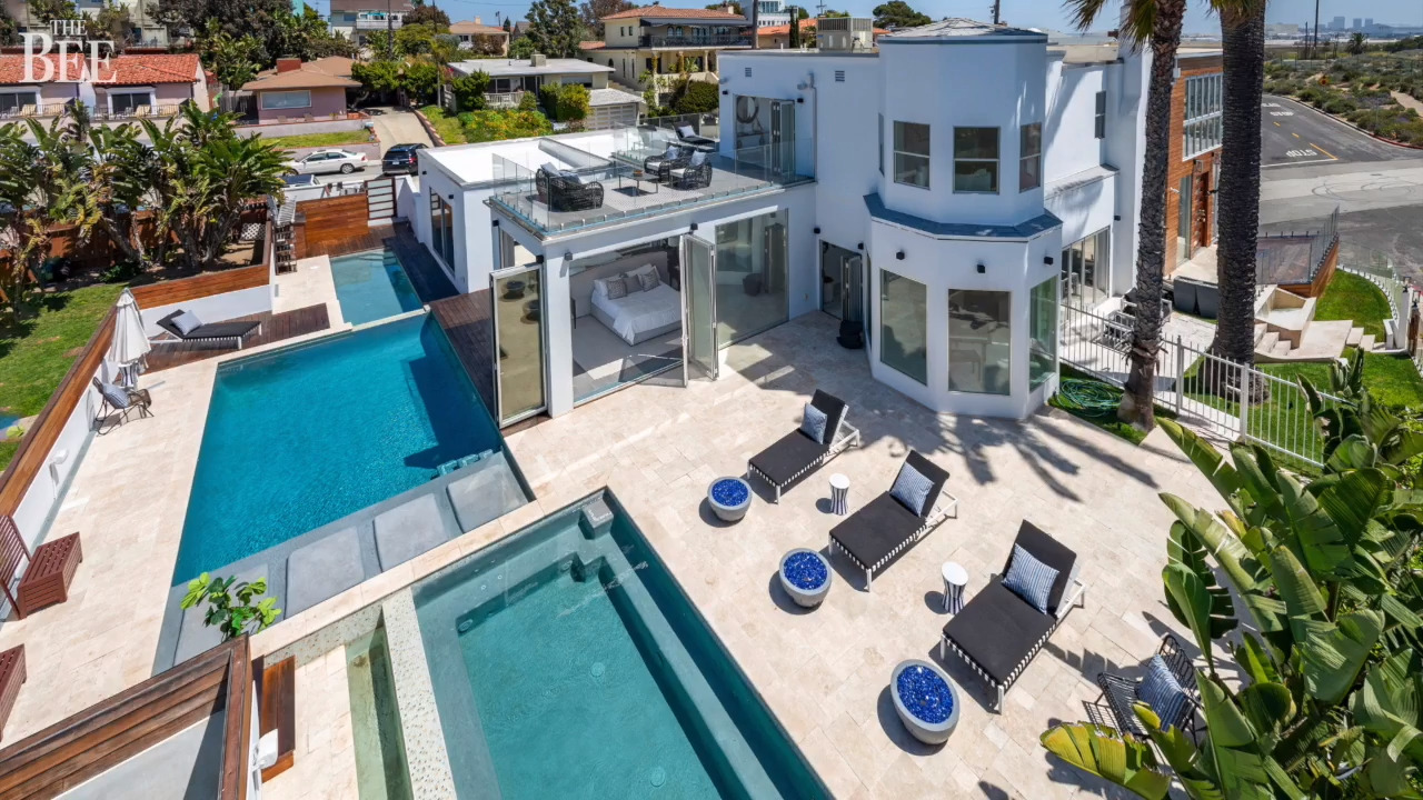 See California beach house with 3 pools, 50-person hot tub selling for $4.225 million