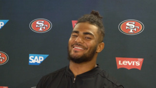 'I'd rather be told to tone it down.' 49ers rookie LB Fred Warner on his opportunity