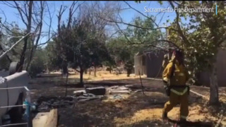 North Sacramento grass fire spreads to house, and there's a lesson here, firefighters say