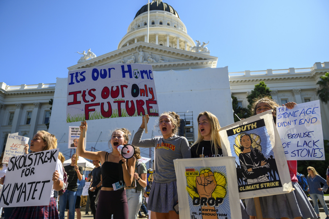 'Scolded by a 13-year-old girl': Global climate strike hits California Capitol steps